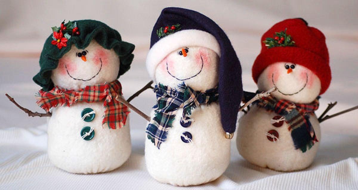 Снеговики своим руками