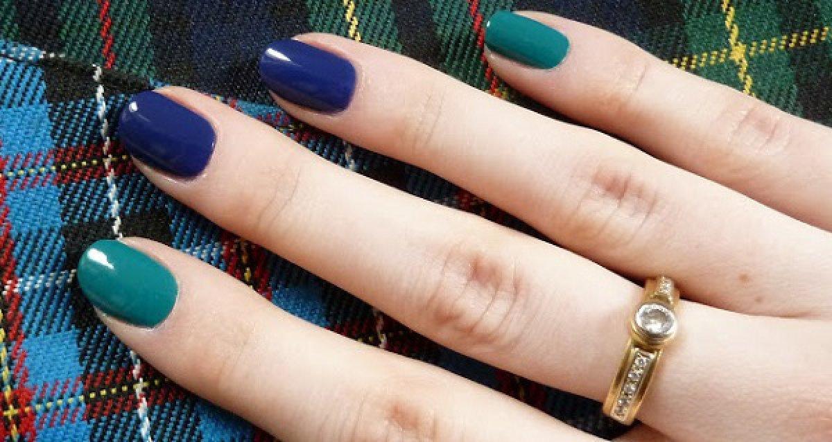 Сочетание пальцев в маникюре