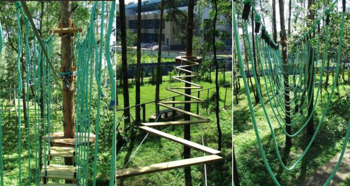 -57% на билет в Monkeypark! 300 р. за прохождение зеленого и желтого маршрутов в веревочном парке