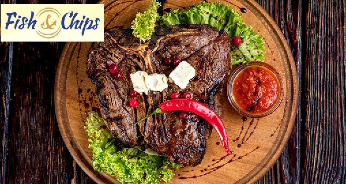 -50% на все меню кухни и безалкогольные напитки и 30% на пенное пинтами в гастропабе Fish&Chips
