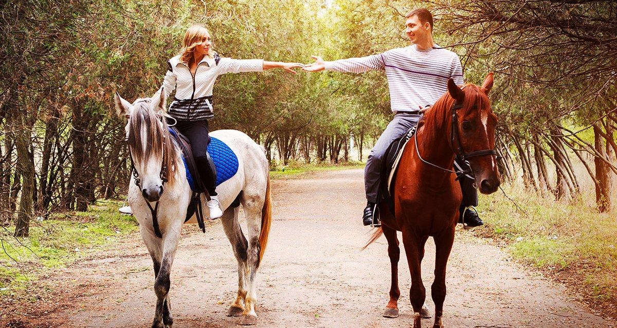-67% на конные прогулки, спортивную рыбалку