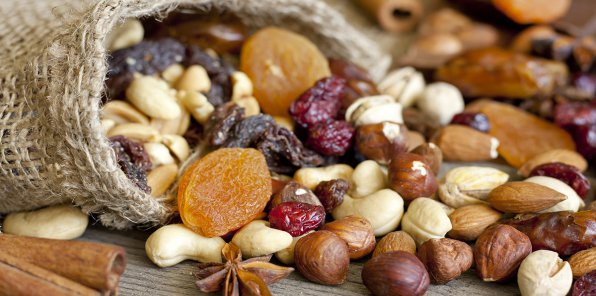 До -30% на орехи и сухофрукты