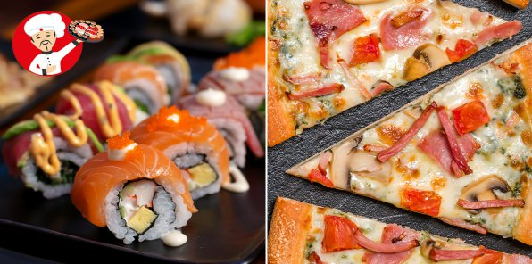 До -65% на роллы, WOK, суши и пиццу
