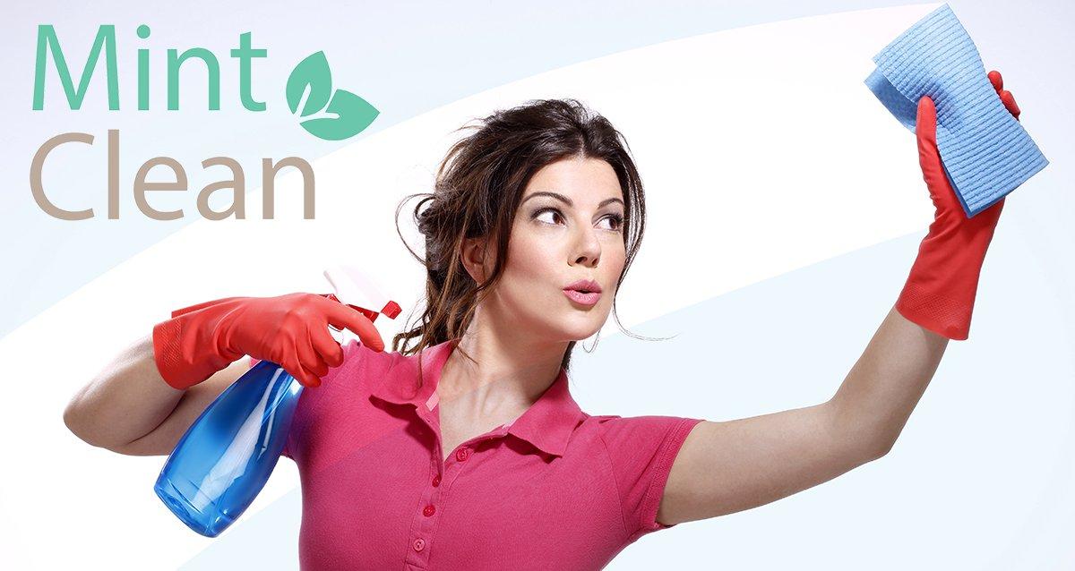 -70% на уборку, мытье окон и глажку от клининговой компании Mint Clean