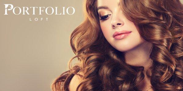 Скидки до 74% на услуги для волос в салоне Portfolio Loft