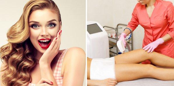 Скидки до 75% на диодную и E-Light эпиляцию, услуги для волос
