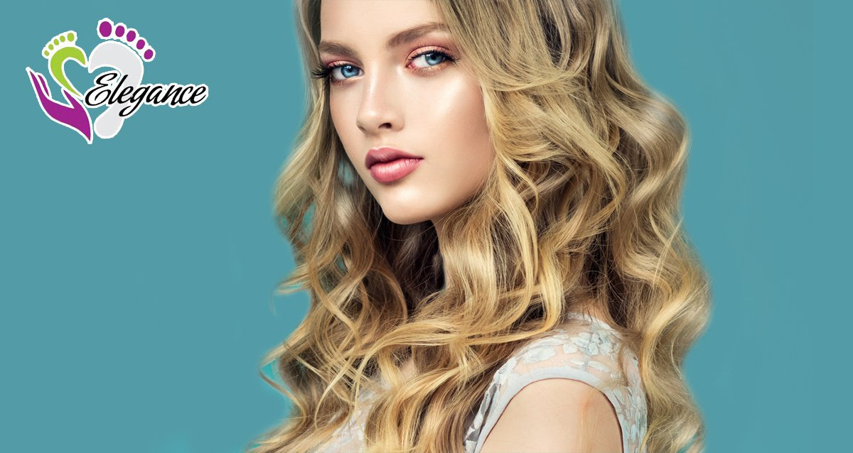 Скидки до 75% на уход за волосами в центре Elegance