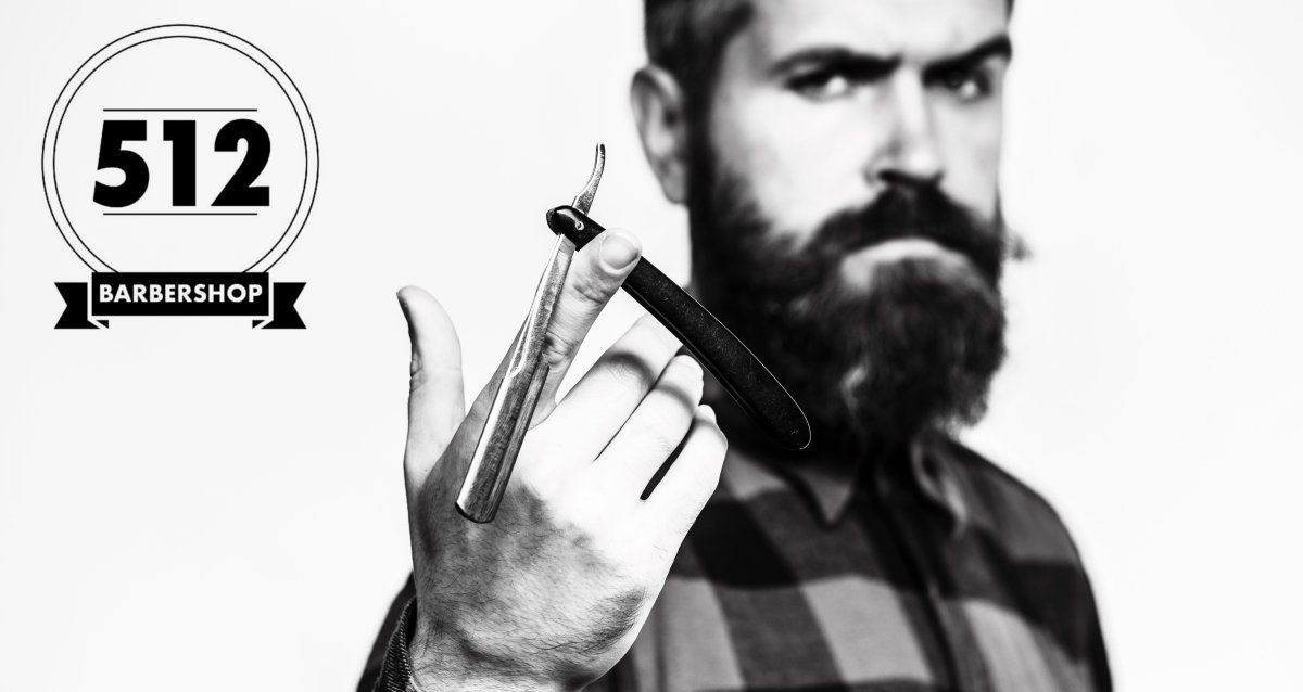 Скидка 50% на первую стрижку ножницами в барбершопе «512»