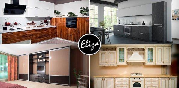 Скидки до 50% на кухни, стеллажи и шкафы-купе