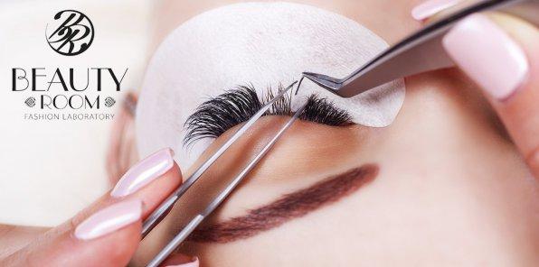 Скидки до 70% на наращивание ресниц в студии Beauty Room