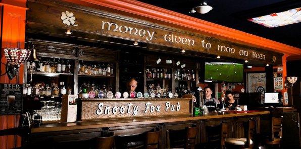 Скидки до 50% на меню в пабе Snooty Fox Pub