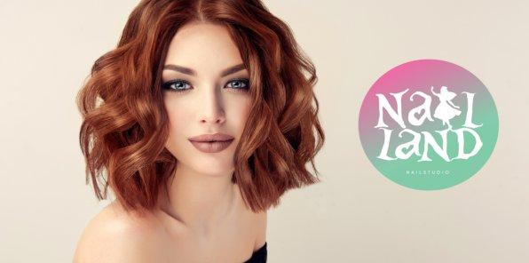 Скидки до 60% на услуги для волос в студии Nail Land