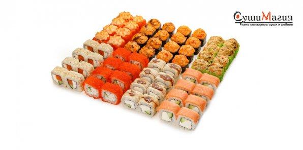 Скидка 50% на набор роллов от магазина «СушиМагия»