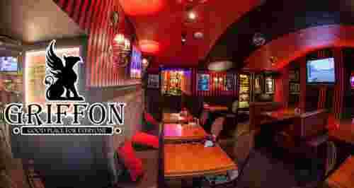 Скидка 50% на меню и напитки рестобара GRIFFON
