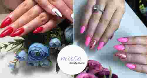 Скидки до 50% на услуги для ногтей в студии Muse