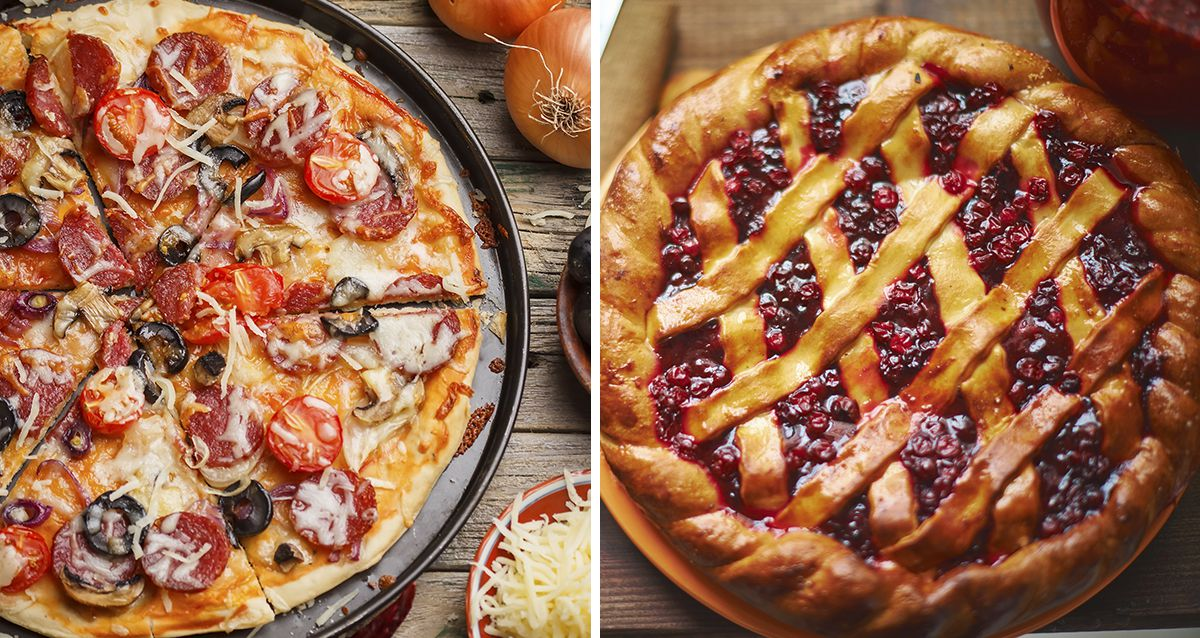 Скидки до 60% на пиццу и пироги
