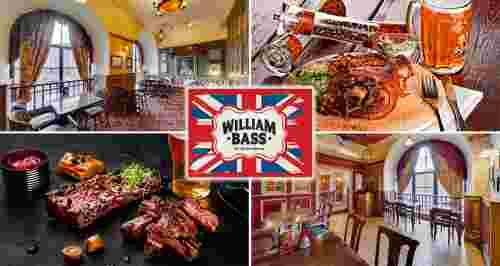 Скидка 50% на все меню в английском пабе William Bass