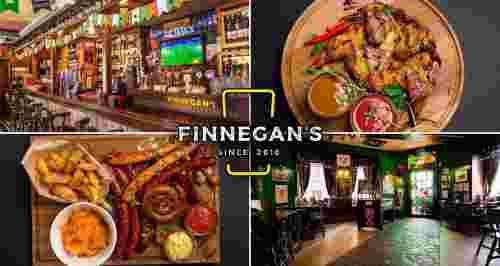 Скидка 30% на все меню и напитки в Finnegan's Restopub на Спортивной