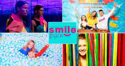 Скидка 81% на билет в 11 музеев, развлечений и аттракционов от Smile Park