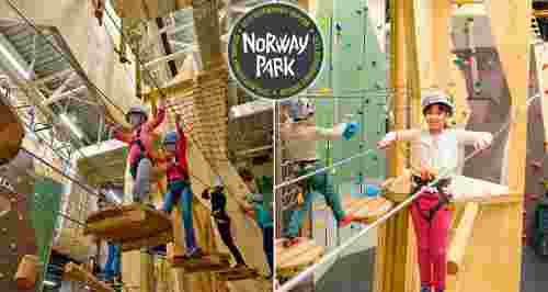 Скидки до 50% в семейном веревочном парке Norway Park «Лондон Молл»