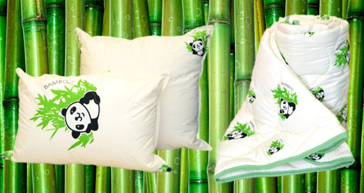 Подушки и одеяла из волокон бамбука, эвкалипта и верблюжьей шерсти