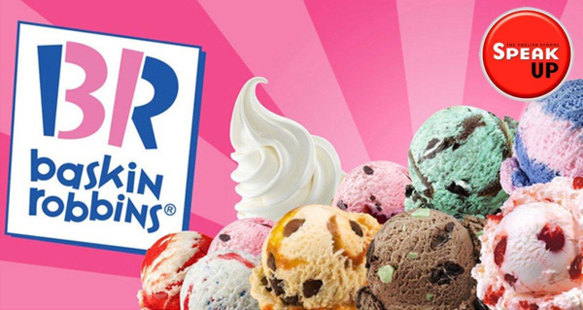 Розыгрыш сертификатов на самое вкусное мороженое Banana Split от «Баскин Робинс» и сети школ Speak Up!