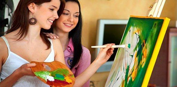 Творите картины! 949 р. за мастер-класс эбру, скидки до 53% на рисование маслом, интуитивное рисование