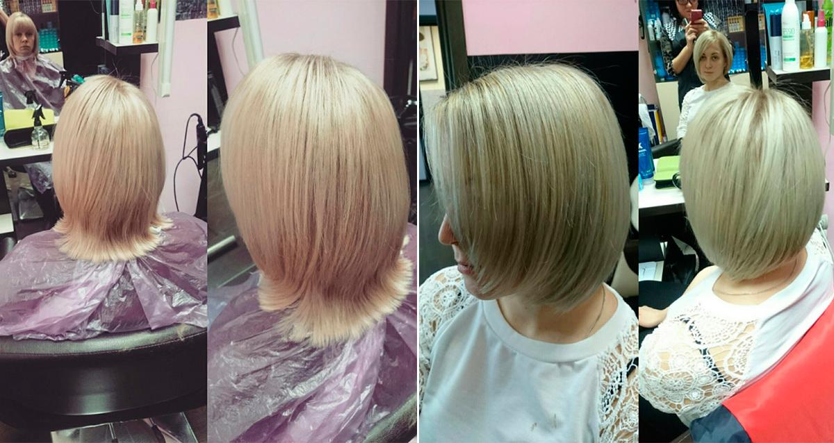 женская стрижка средние волосы