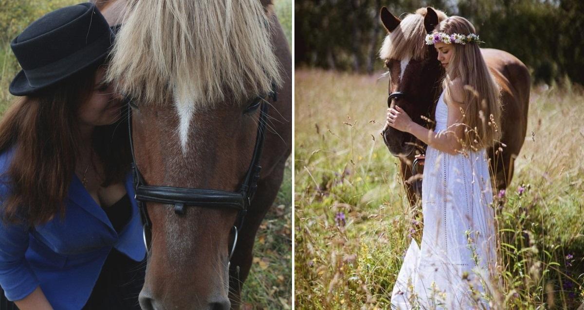 фотосессия с лошадью
