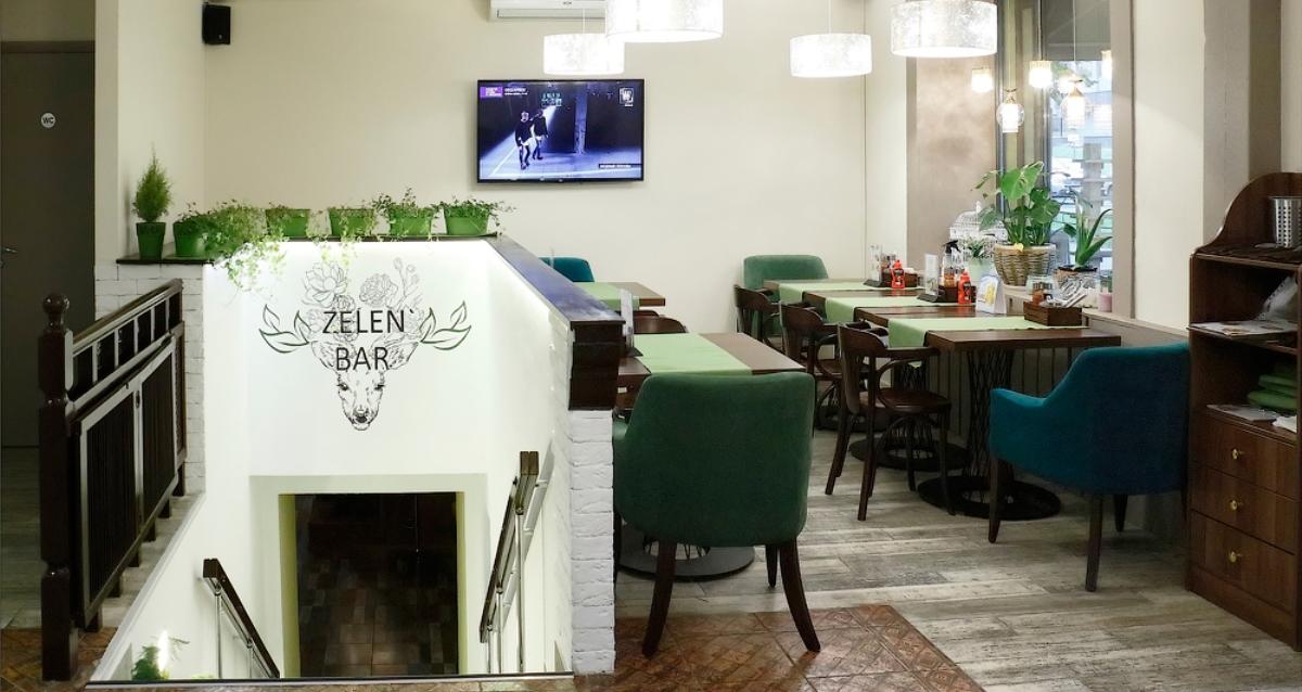 интерьер Zelen Eco Cafe
