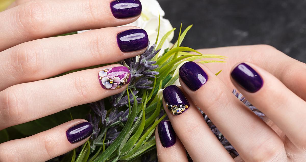 фиолетовый гель лак
