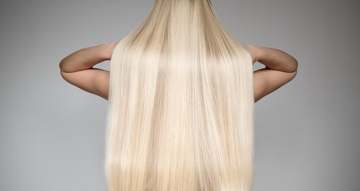 длинные волосы блондинка