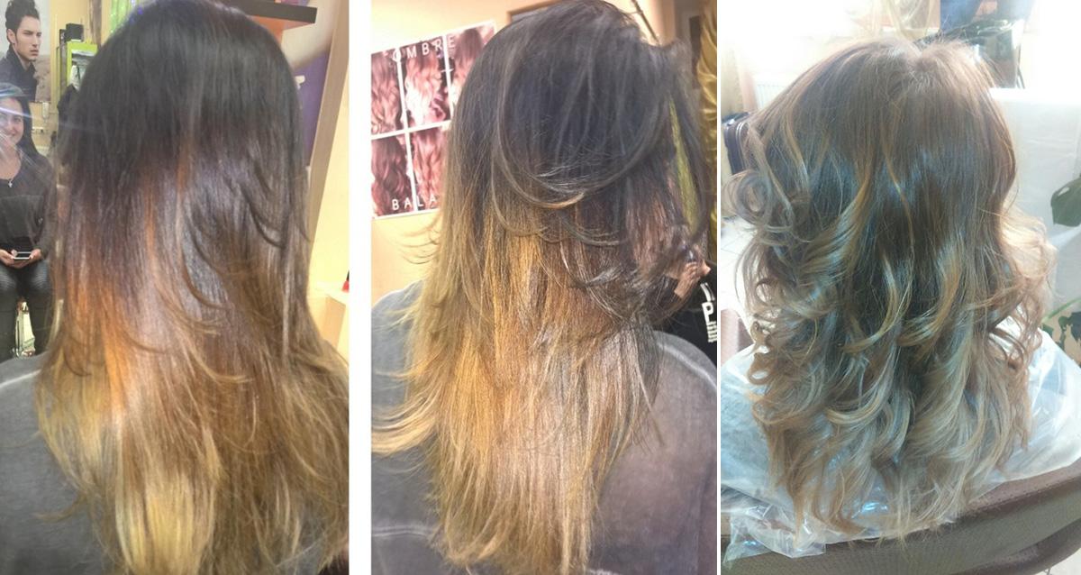 окрашивание волос в салоне